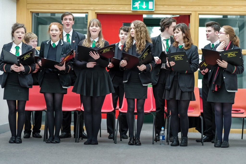 Members of Erne Integrated College Chamber Choir at its recent Open Day.