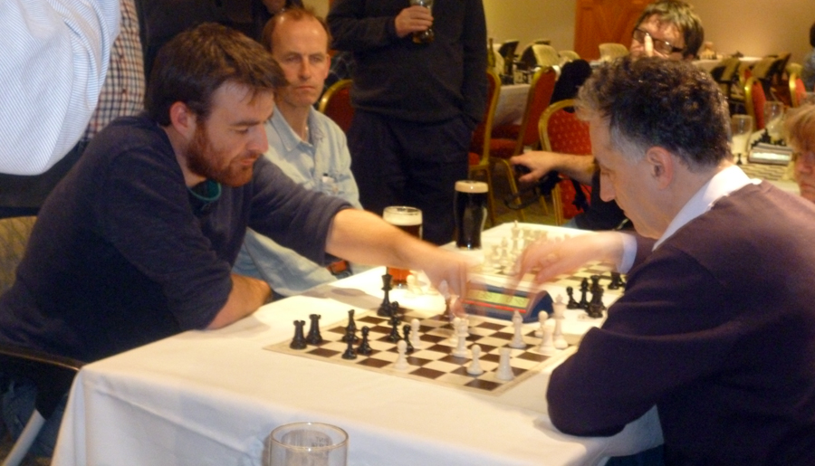 IM Malcolm Pein, organiser of the London Chess Classic, whom Gawain famously beat nearly twenty years ago, making chess history as the youngest player ever to beat a titled one in a formal game.