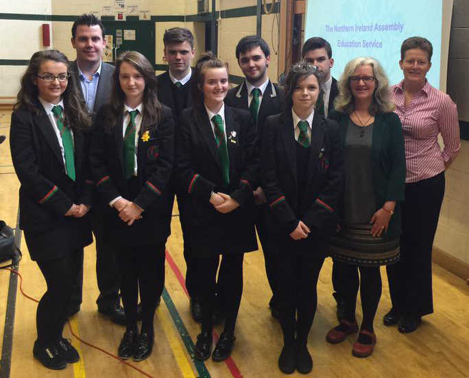With Phil at the Erne Integrated College