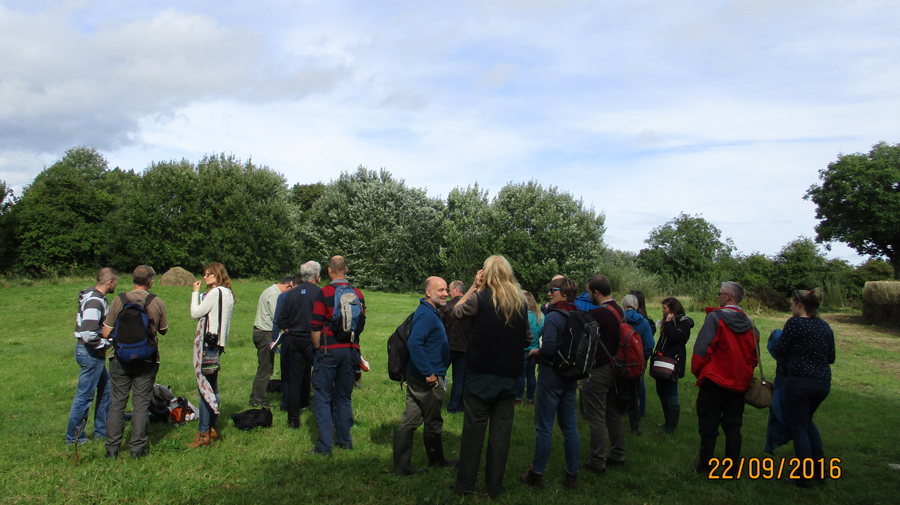 Visiting the Monastery Meadows site at Mount Lourdes College, Enniskillen.
